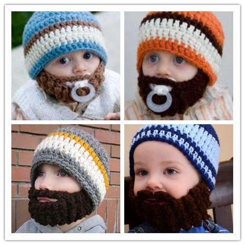 Newborn Crochet Baby Beard Caps Baby Hat Baby Boy Beard