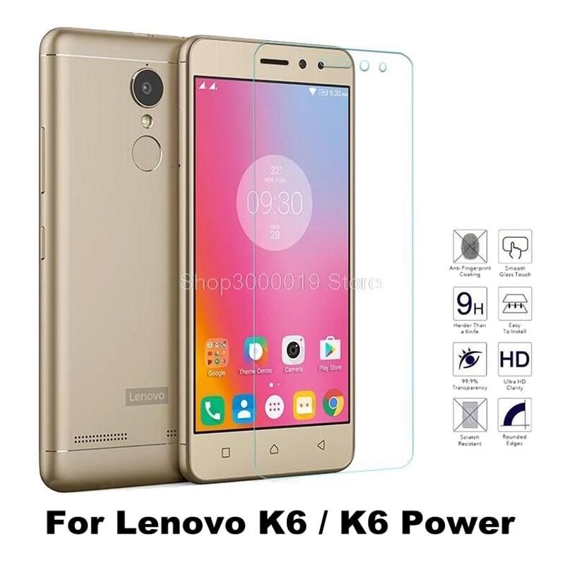 Lenovo K6 Power Tempered Glass For Lenovo K6 / Lenovo K6 Power Screen Protector Glass For Lenovo K6 Glass Film Case + Clean Kits
