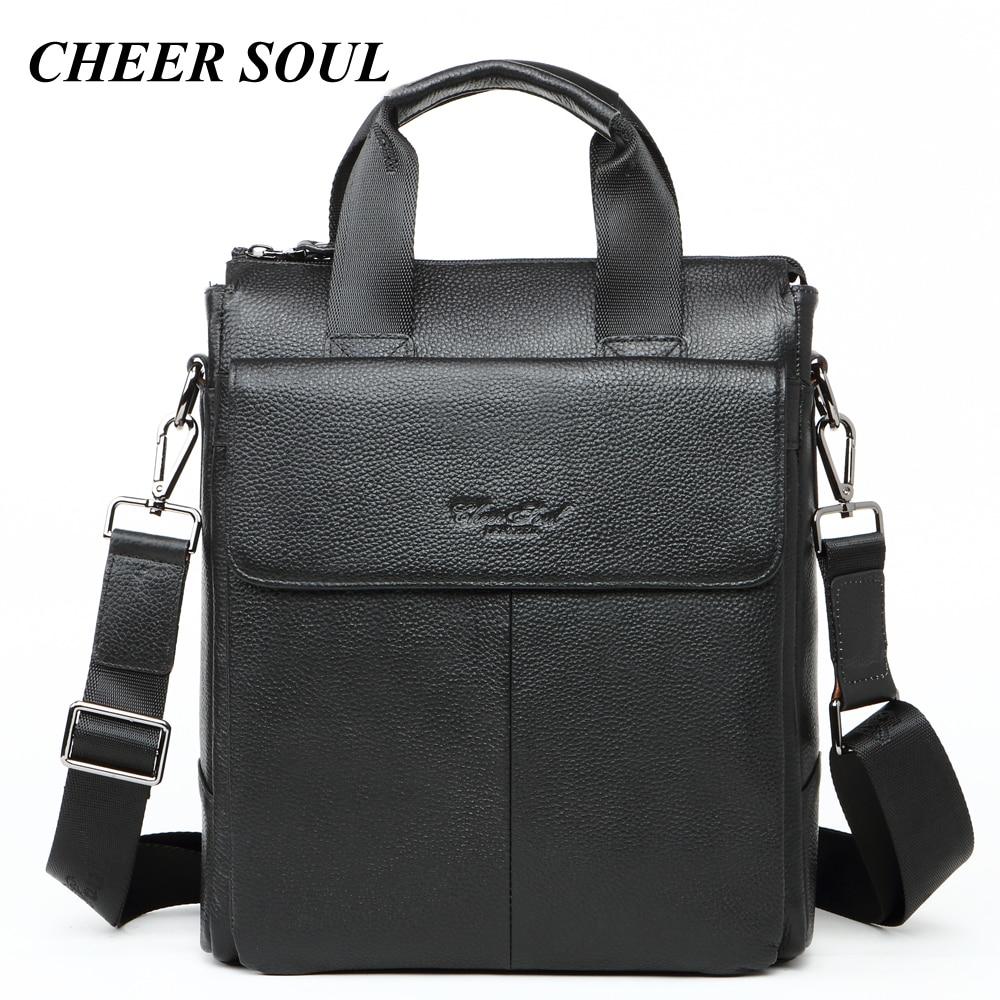 Genuine Leather Businessman Briefcase Men Laptop Bags For Men Fashion Tote Handbags A4 Document Case Male
