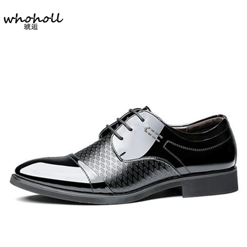 2018 Spring new Men Dress Shoes Pointed Toe Lace Up Man Business Brown Black Leather Oxfords Shoes Carved Italian Formal Oxford choudory new winter men ankle italian shoes men leather shoes pointed toe mens black dress shoes sequined toe spiked loafers men