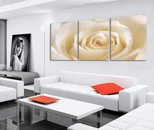 3 Piece Romantic Canvas Painting rose flower Oil Painting Large Wall Art Pictures For Living Room Print On Canvas HD Print