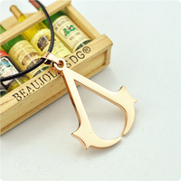 Free Shipping Copslay Anime Jewelry The Assassins Creed Necklace Assassins Creed LOGO Pendant Necklace