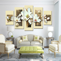 Hand painted oil wall art beige water side home decoration abstract Landscape oil painting on canvas 5pcs/MYT 2