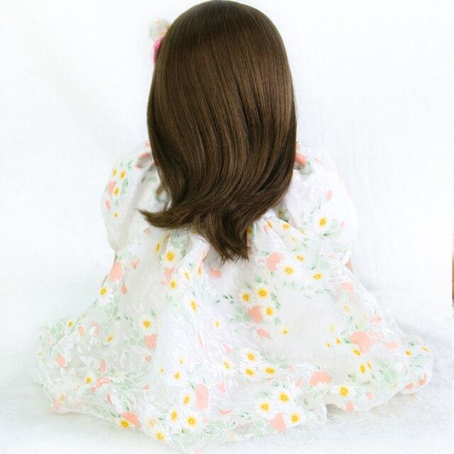 60cm Silicone Reborn Baby Doll Toys Like Real Vimyl Princess Toddler Girls Alive Bebe Doll Lovely