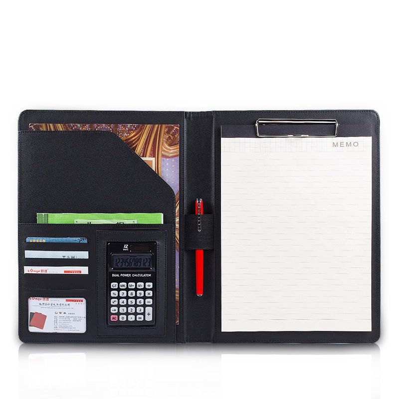 335*240mm A4 Multi-function Business Office Dedicated Folder Sales Manager Leather Clip/signing Contract Carpetas Pasta Escolar