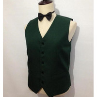 hot sell Green single breasted Formal Vest Man Suits Five Button Groomsman Tuxedos Men Wedding Vest
