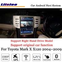 Liislee 12,1 Android 7,1 до Автомобильный мультимедийный для Toyota Mark X X120 2004 ~ 2009 Оригинальный стерео радио gps карта навигатор навигации системы