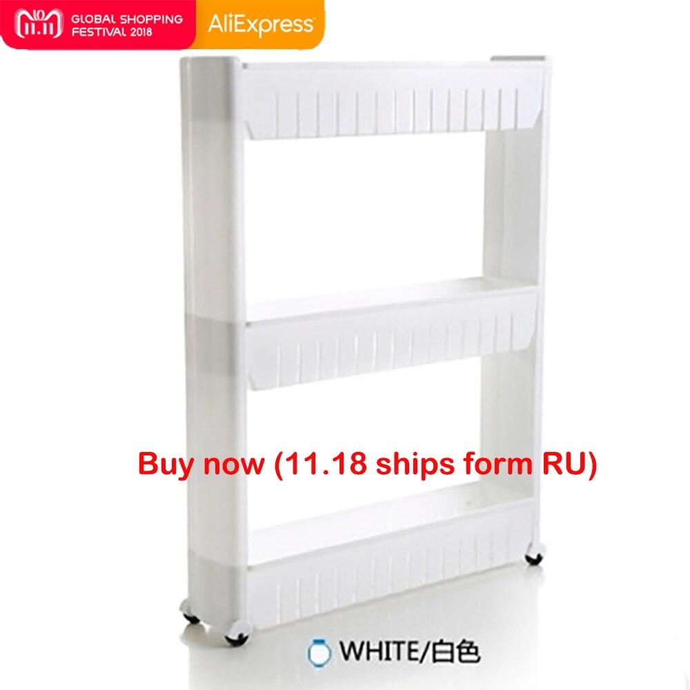 Multipurpose Shelf with Removable Wheels Crack Rack Bathroom Storage Storage Rack Shelf Multi-layer Refrigerator Side Shelf цены онлайн