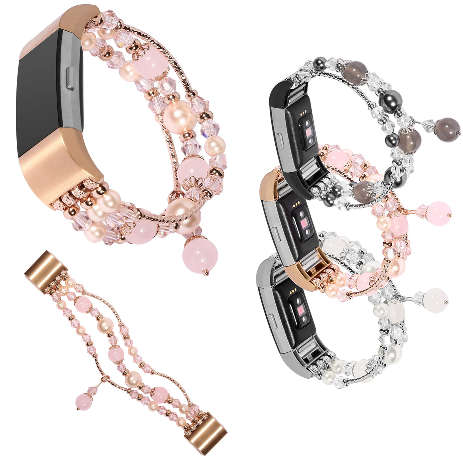 Handmade Jewelry Watch Band for Fitbit Charge 2 Strap