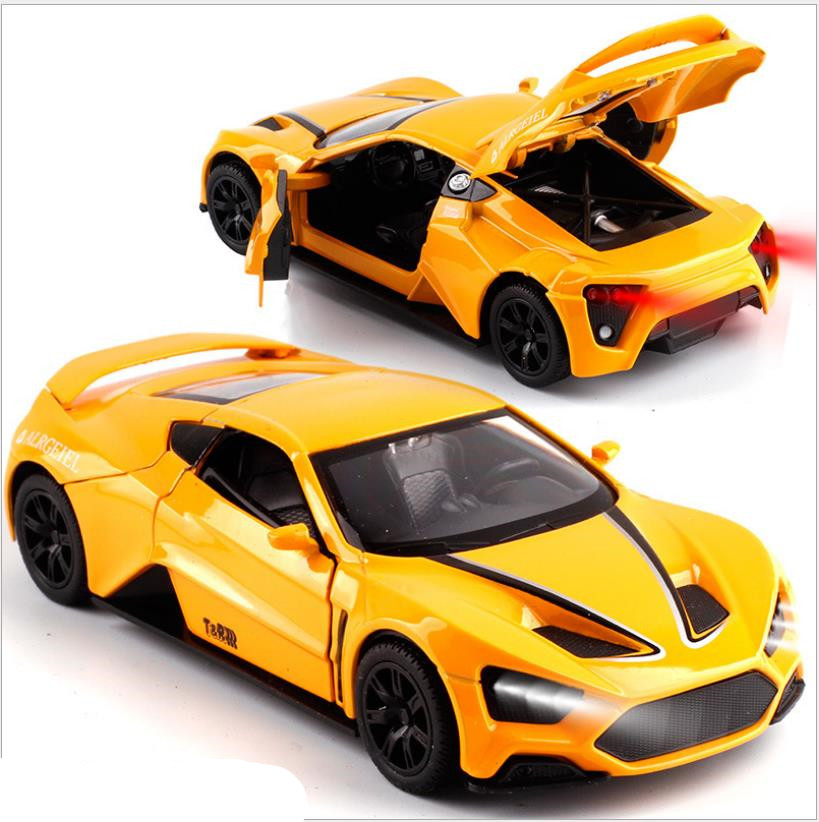 1:32 High Simulation Sports Car,alloy Pull Back Model Car,simulation Sound And Light,free Shipping