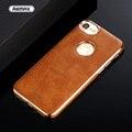 Para iphone 7 case de couro de luxo da marca original remax tpu banhado + de metal de ferro magnético telefone proteção case para iphone7 7 plus