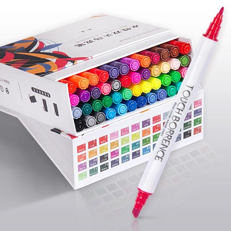 BOLUNSI 40/60 Colori a base di Acqua Pennarello Set Cancellabile Animazione Colori Speciali Per I Bambini Principianti Arte acquerello penna pittura