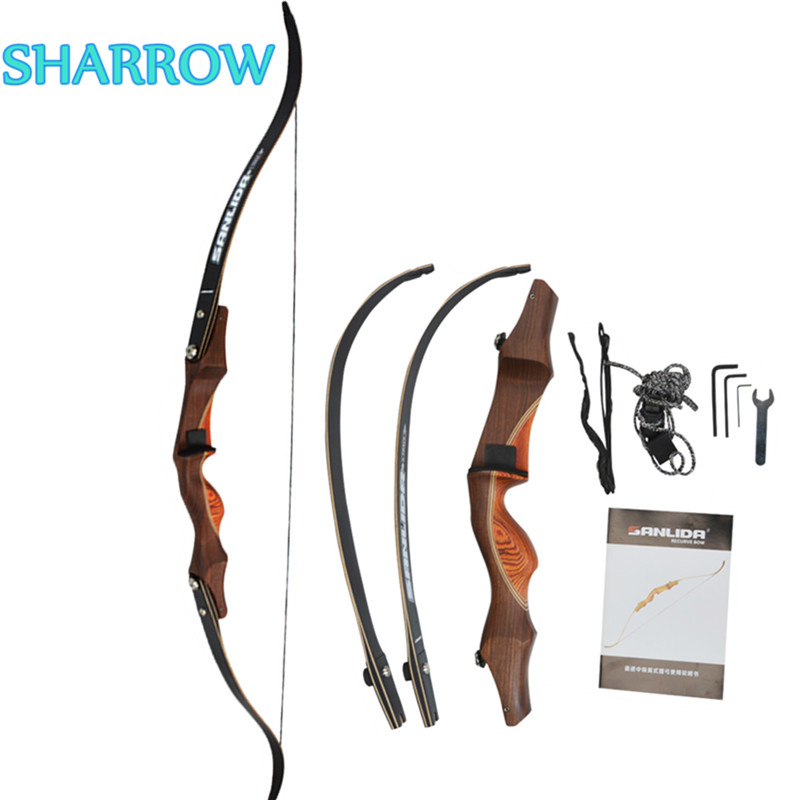 1Pc 60 Takedown Recurve Bow 30lbs Right Hand Hunting Traditional Wooden Riser Bow For Outdoor Shooting Training Accessories1Pc 60 Takedown Recurve Bow 30lbs Right Hand Hunting Traditional Wooden Riser Bow For Outdoor Shooting Training Accessories