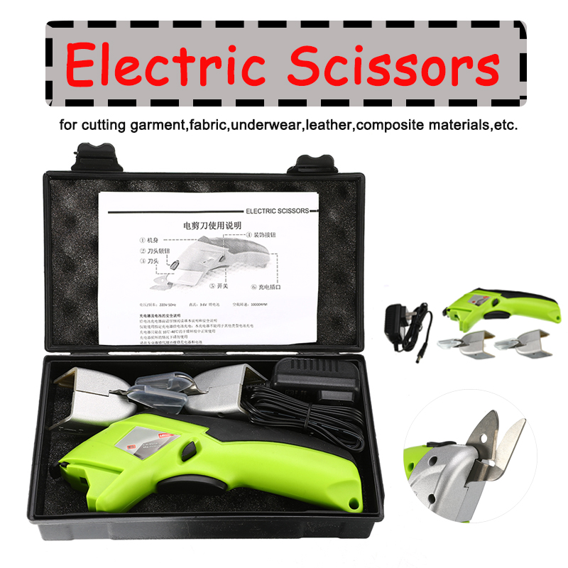 Multipurpose Electric Scissors 110V 220V Cordless Chargeable Fabric Sewing Scissors Handheld Hand Tools Electric 235x40x80mm