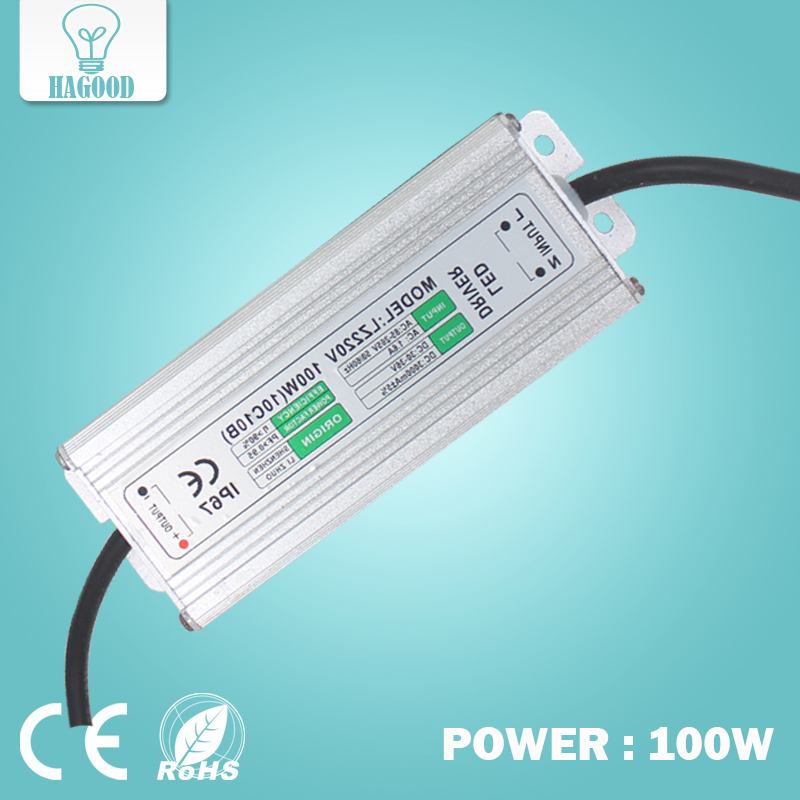 10pcs 100W 10Series10 Parallel Waterproof LED Lamp Driver AC85-265V Power Supply Adapter Current 280-3000mA DC30-36V Transformer new100w 10 series 10 parallel waterproof integrated led bulb driver power supply constant current ac 100 265v to dc 26 36v