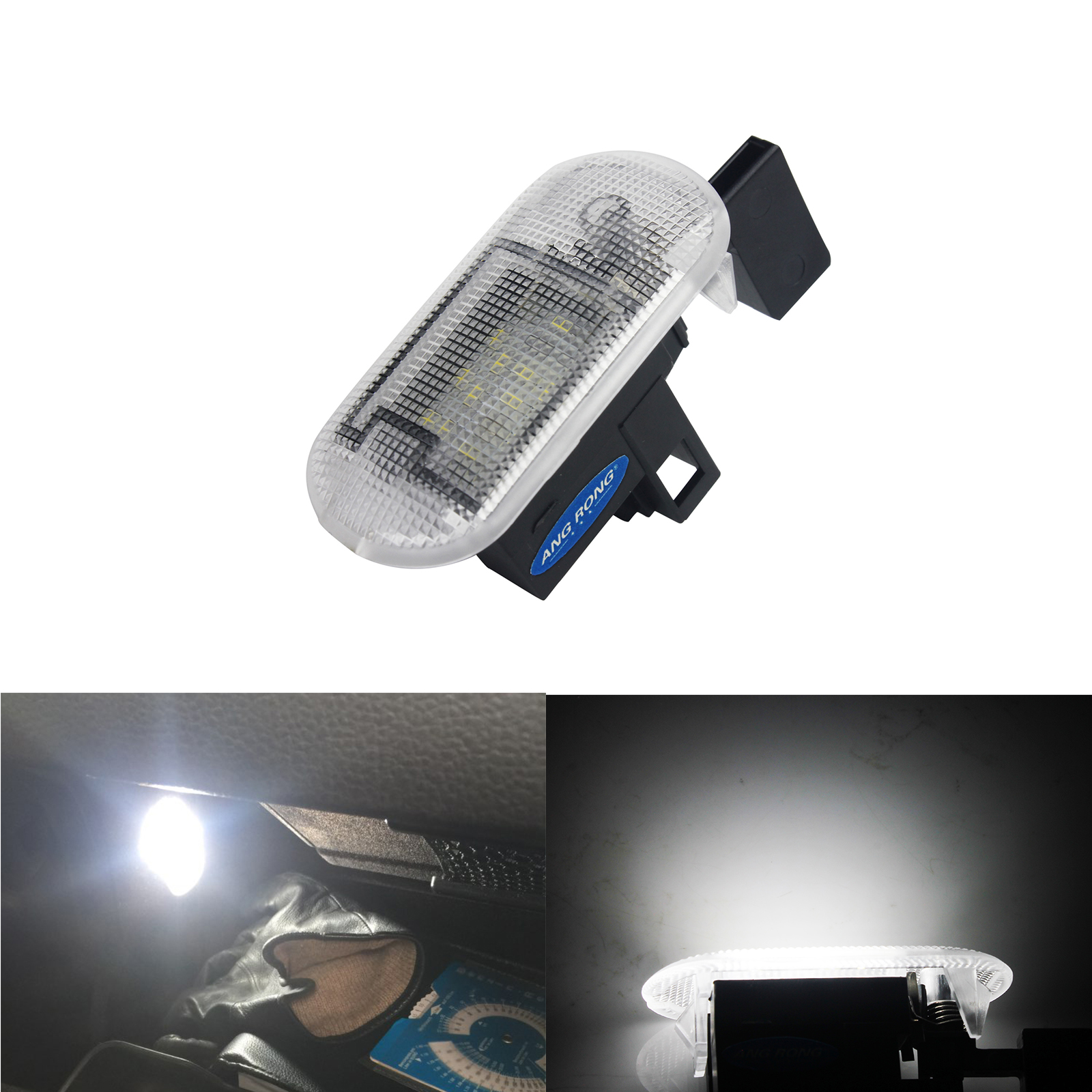 ANGRONG White LED Glove Box Light Lamp For VW New Bettle Bora Caddy Golf MK4 Touran Touareg image