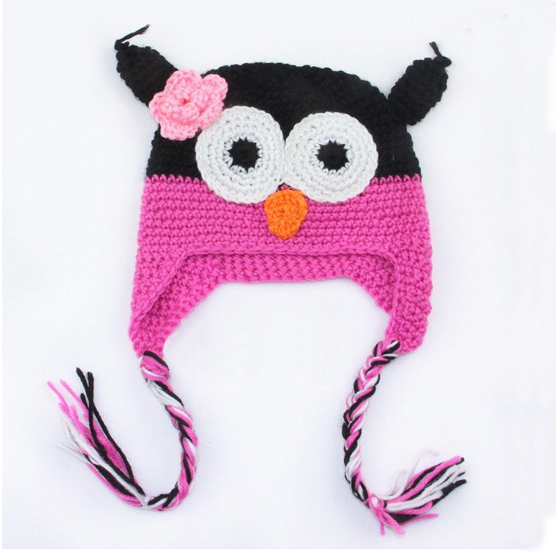 Handmade Knitted Baby Caps Kids Cartoon Infant Toddler Crochet Baby Hats  Owl Cap With Ear Animal Style Baby Beanie Girls Boys-in Hats   Caps from  Mother ... cb74933b4a7e