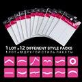 1 Lote = 12 paquetes de Decoración de Uñas Nail Art Tips Nail Etiqueta Engomada Del Clavo Del Arte Francés Formulario Fringe Guías de la Etiqueta Engomada DIY manicura envío gratis