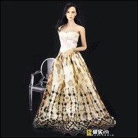 New Style 1 6 Female Evening Dress Wedding Dressing Clothing Model Toys For 12 Female Action
