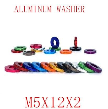 10 Stücke M5x12x2 M5 Aluminium Legierung Flache Washer Dichtung Eloxiert Multi-farbe Alu Washer Für Rc Modell Teile