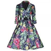 S XXL Audrey Hepburn Vestito Dalle Donne Retro Vintage 1950 S 60 S Rockabilly Floreale Swing