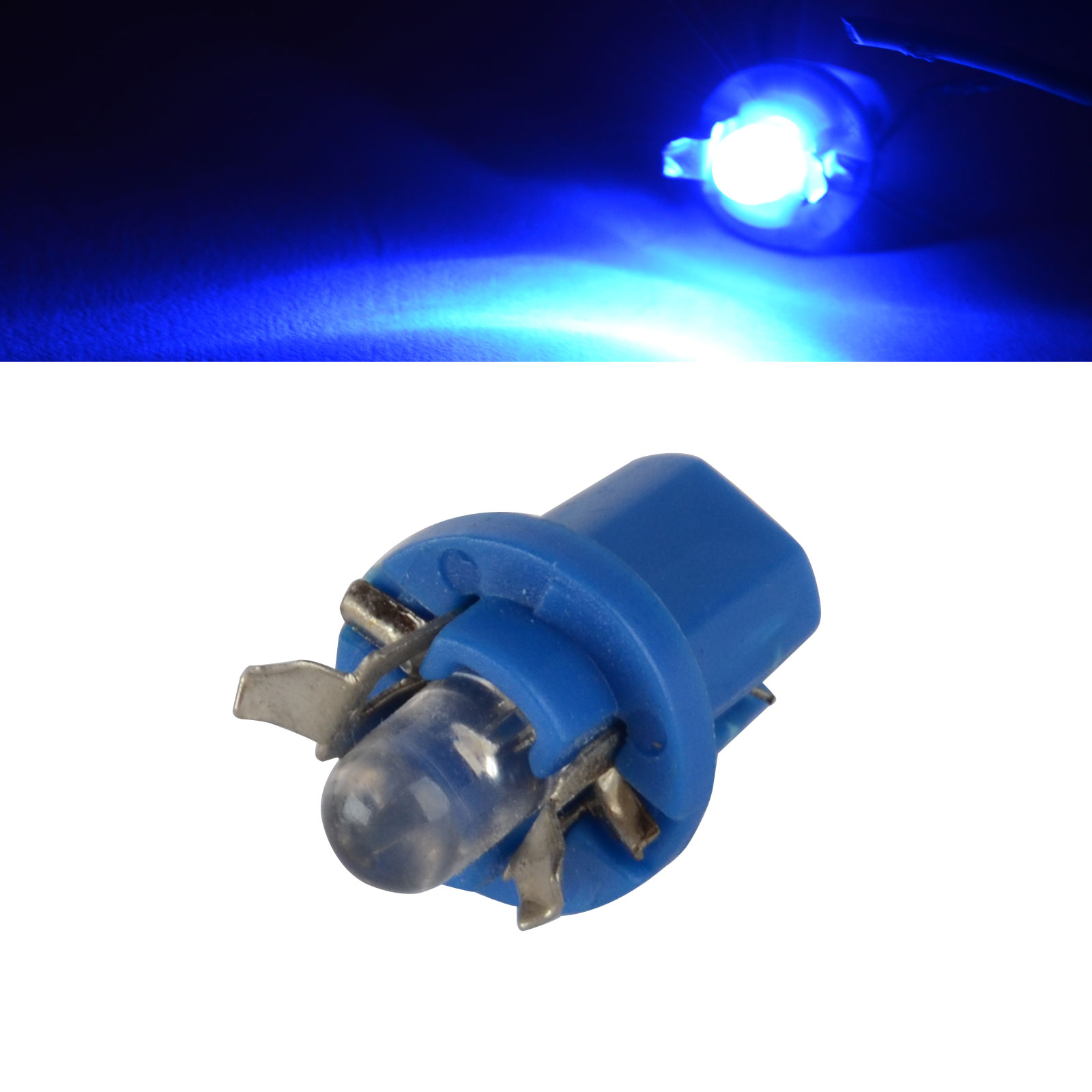 10PCS DC 12V Blue T5 B8.5D 1 SMD LED Car Interior Dome Dashboard Panel Side Light Bulb Auto Indicator Lamp For Car Truck Boat 5pcs lot led indicator light lamp pilot dash direction bulb dashboard panel instrument light car truck boat 5 color
