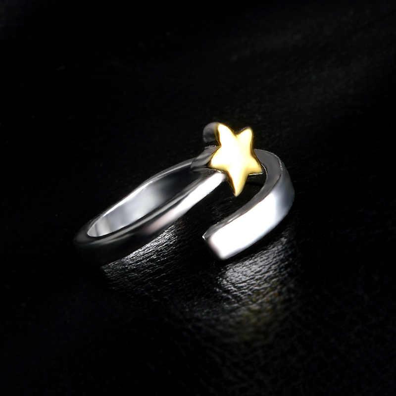 Кольцо звезда кольца для Для женщин 925 пробы серебряные ювелирные изделия жеские кольца Femme Mujer Aneis Ювелирные Изделия Bague Anelli Ringen
