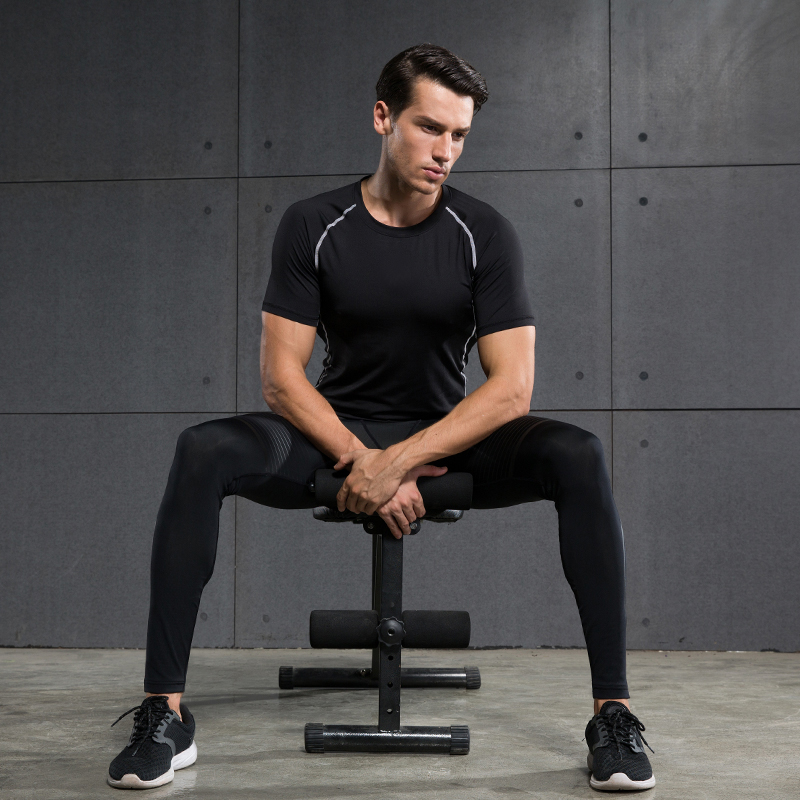 Men's Compression Running Suits Short Sleeve and Long Pants Sports Set  for Joggers Gym Fitness