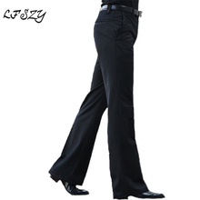 2020 New Men's Flared Trousers Formal Pants Bell Bottom Pant Dance White Suit Pants Size 28 2930 31 32 33 34 36 37