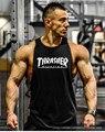 Musculation! 2016 Thrasher colete roupas de musculação e fitness homens undershirt regatas tops golds homens Thrasher camisola XXL
