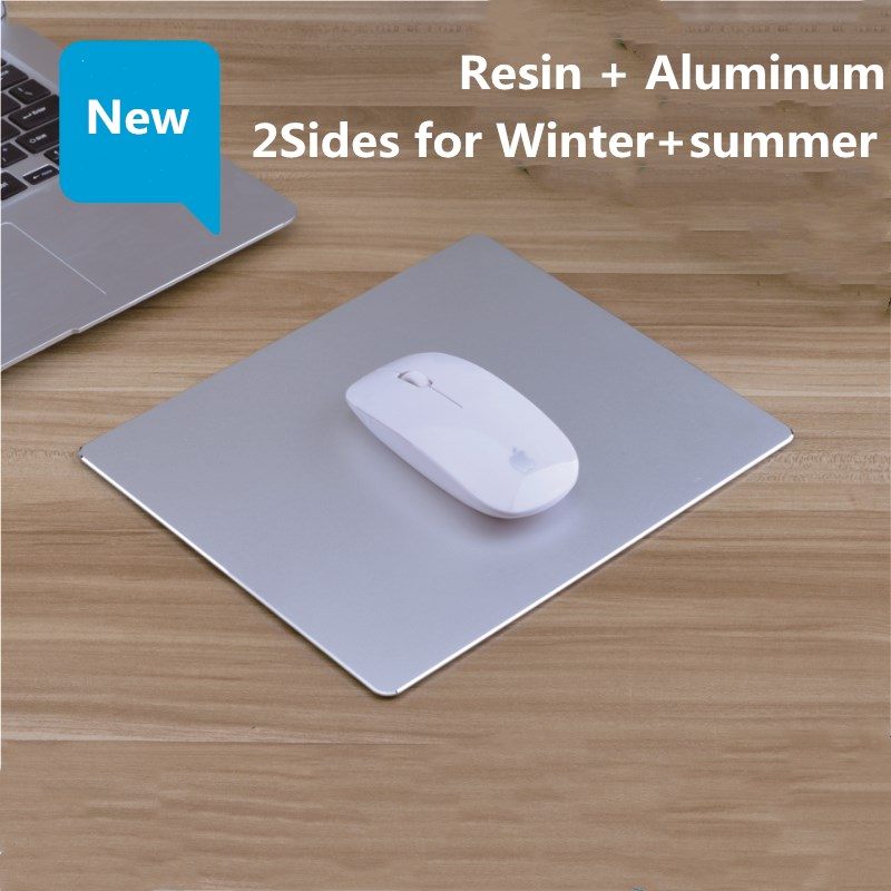 Aluminum Mouse Pad Waterproof Metal Resin Mat Luxury Gift Large/Medium/Small Size 2sides Winter Summer Dual-use For For Office