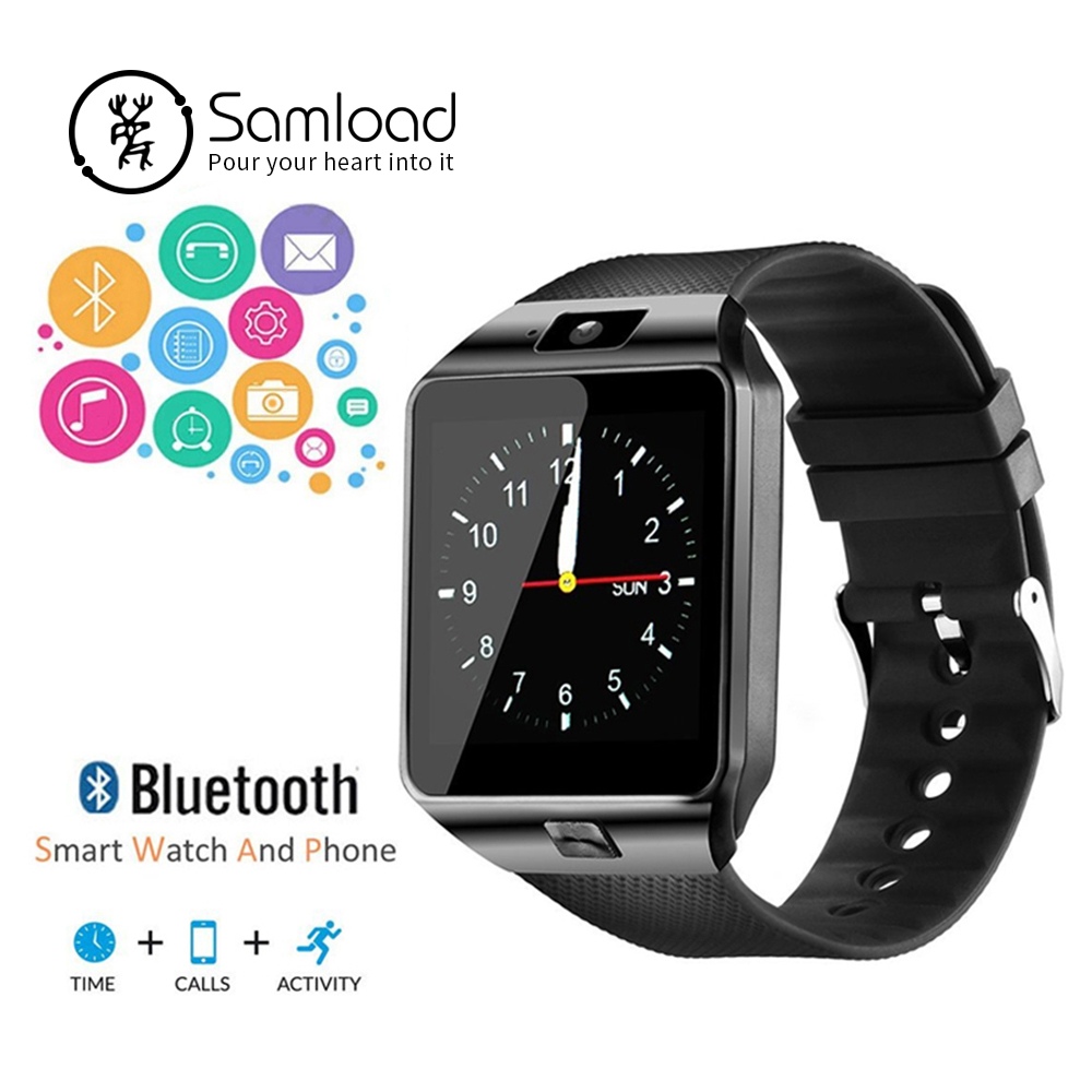 Samload Bluetooth SmartWatch DZ09 Android Phone Call Cámara Relogio 2g GSM Smar tvigila para iPhone Huawei xiaomi VS Y1 a1 Z60