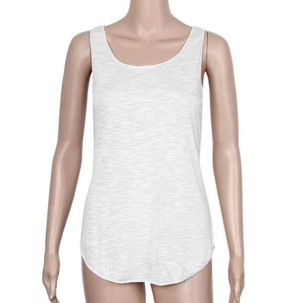 المرأة الصيف بسيطة لينة القطن أكمام كبيرة جولة الرقبة فضفاضة طويلة ضئيلة واحدة سترة سترة #15 #15