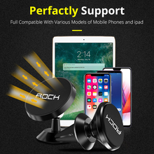 Rock Update Magnetic Car Phone Holder Stand For iphone XS XR X 8 7 Samsung S9 S8 Air Vent Dashboard Cell Phone GPS PDA Mount