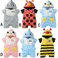Baby Rompers 2016 Unisex Baby Clothes Rompers Cotton Short Sleeve Baby Rompers Animals Hooded Regular Infant Clothing