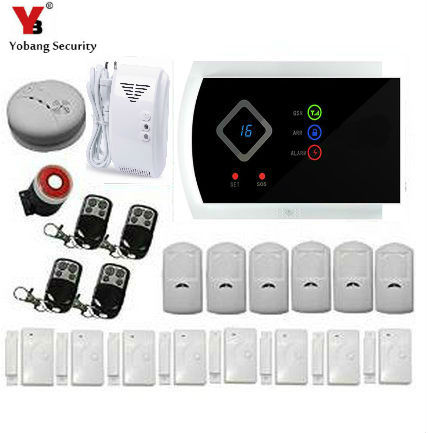 YobangSecurity Russian Spanish Italian Slovak Wireless GSM SMS Home Burglar Security Alarm System IOS Android APP Tamper Alarm