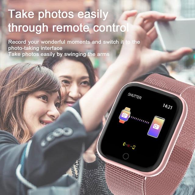 2020 Women Waterproof Smart Watch P70 P68 Plus Bluetooth Smartwatch For Apple IPhone Xiaomi Heart Rate Monitor Fitness Tracker 5