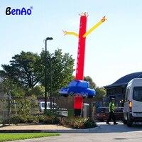 AD490 мини Надувные Sky Air Танцовщица танцы человек с воздушный компрессор весело воздуходувки, 4 м надувные Волна Воздуха Sky Dancer для автомобиля