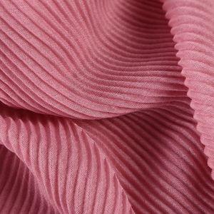 Image 4 - أوشحة حجاب عصرية مكشكشة طويلة بطيات أنيقة شال سادة ماكسي حجاب إسلامي للسيدات أوشحة التجاعيد أوشحة لينة 1 قطعة
