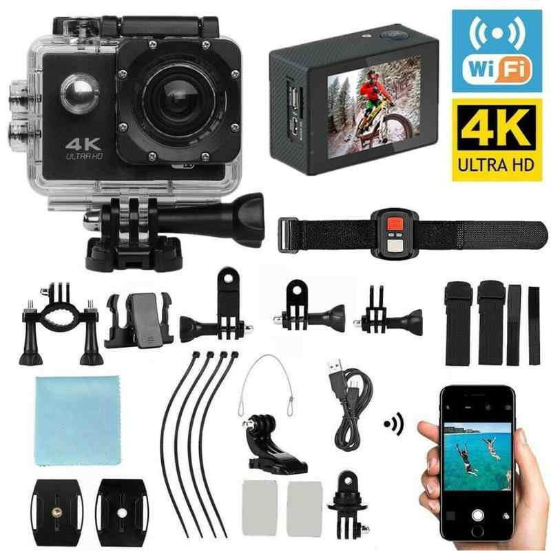 HD Penuh Action Camera Sport Camcorder Ultra HD 4K WIFI Remote Control Olahraga Video Camcorder DVR DV Pergi Tahan Air kamera Pro