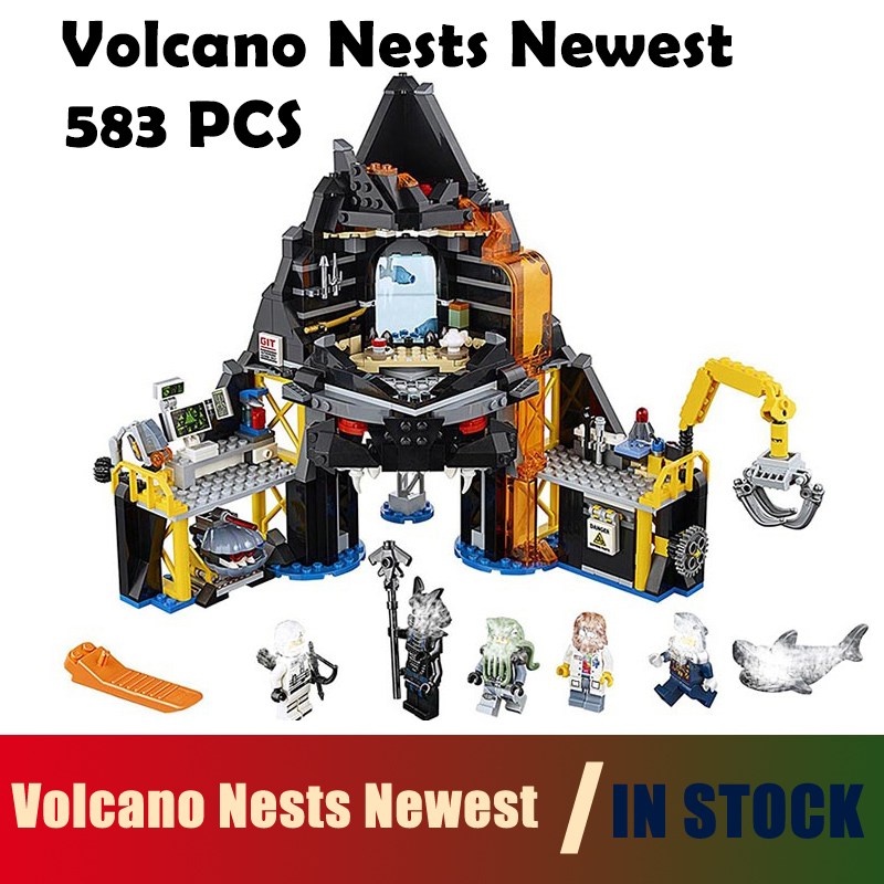 Compatible with lego Ninjago 06072 Volcano Nests Newest Model Building Blocks toys Series 70631 Educational DIY toys hobbies compatible with lego ninjagoes 70596 06039 blocks ninjago figure samurai x cave chaos toys for children building blocks