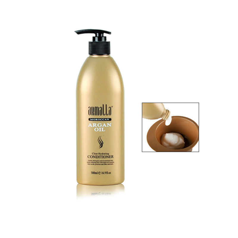 Armalla Moroccan 500ml Professional Natural Shampoo and 500ml Hair Care Conditioner+100ml Argan Oil Repairing Dry Damage