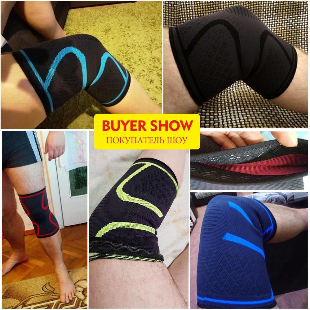 Skdk Penyangga Lutut Nilon Elastis Olahraga Lutut Bantalan Breathable Lutut Penopang Brace Menjalankan Kebugaran Hiking Bersepeda Pelindung Lutut