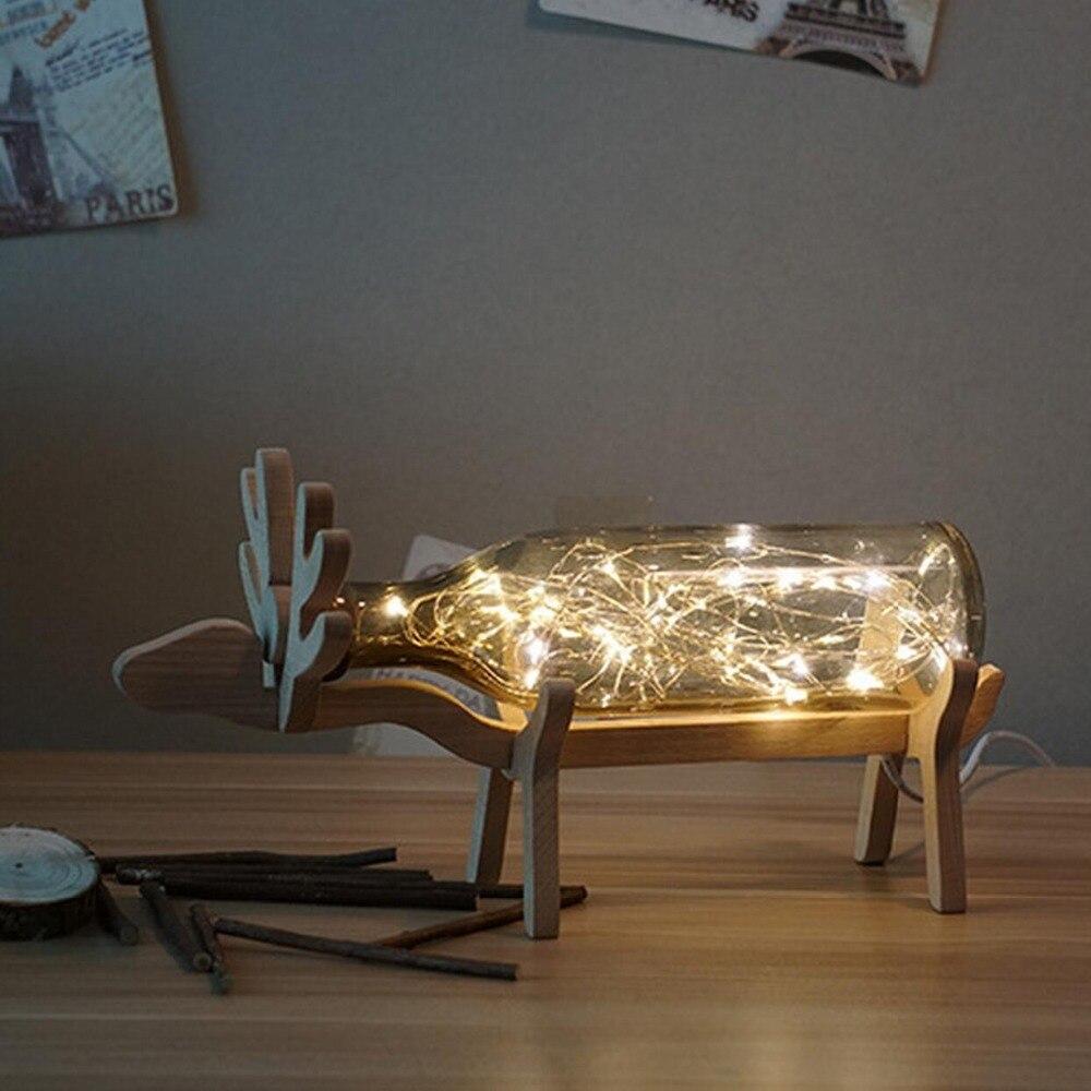 ФОТО Modern decoration glass Lamp elk design adjustable light best  gift