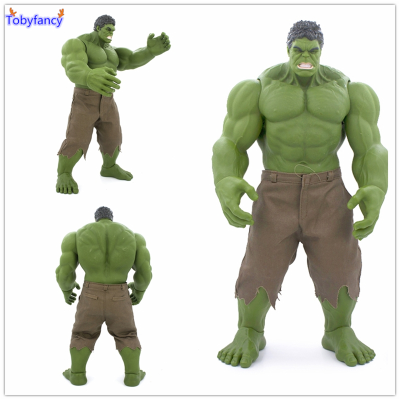 Tobyfancy Avengers Incredible Hulk Action Figure Iron Man Age Of Ultron Hulkbuster 42CM PVC Hulk Smash Collectible Model Toy crazy toys avengers age of ultron hulk pvc action figure collectible model toy 9 23cm hrfg449