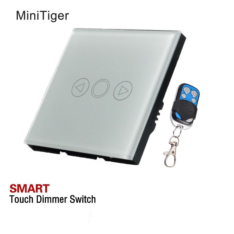 EU Standard Touch Dimmer Switch Dimmer 1 Gang White Glass,dimmer switch glass touch panel dimmer for floor lamp light switch