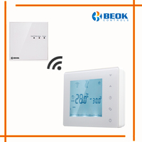 Wireless Control Touch Screen Programmable Wall Mounted Gas Boiler Thermostat For Heating System