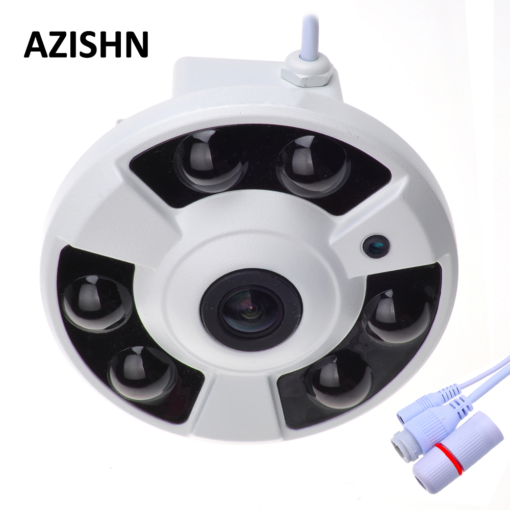 Панорамный IP Камера 720 P 960 P 1080 P дополнительно Широкий формат FishEye 5MP 1,7 мм объектив Камера CCTV Крытый ONVIF 6 ИК светодиодный