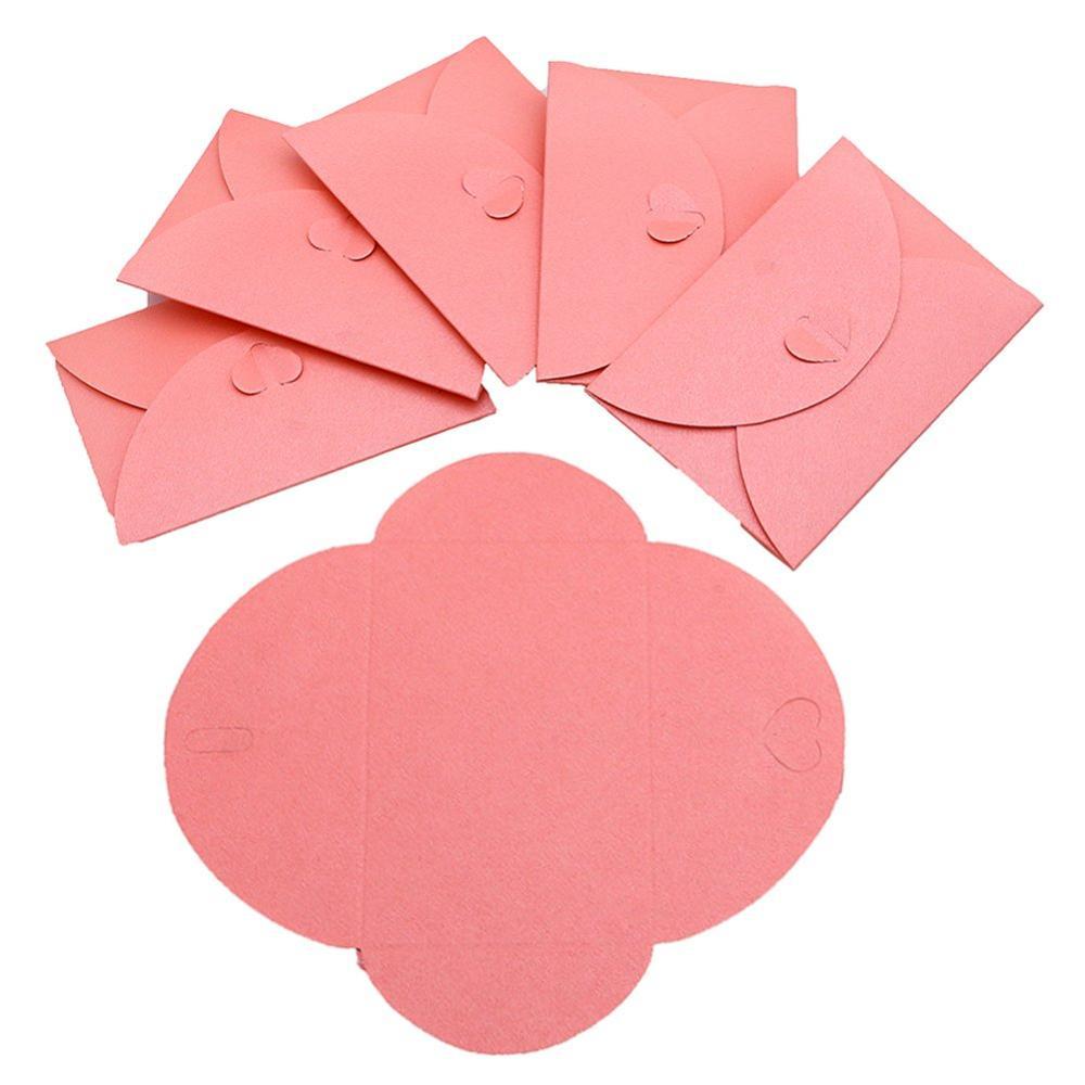 Cute Post Card Holders Heart Clasp Shining Colorful Envelopes 22 Pcs, 11 Colors Mini Kraft Paper Envelopes JKJF Mini Gift Card Envelope