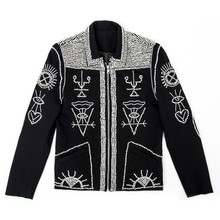 De lujo para hombre negro cordón evento Etapa corta chaqueta de  moda estudio  08afa8718f8